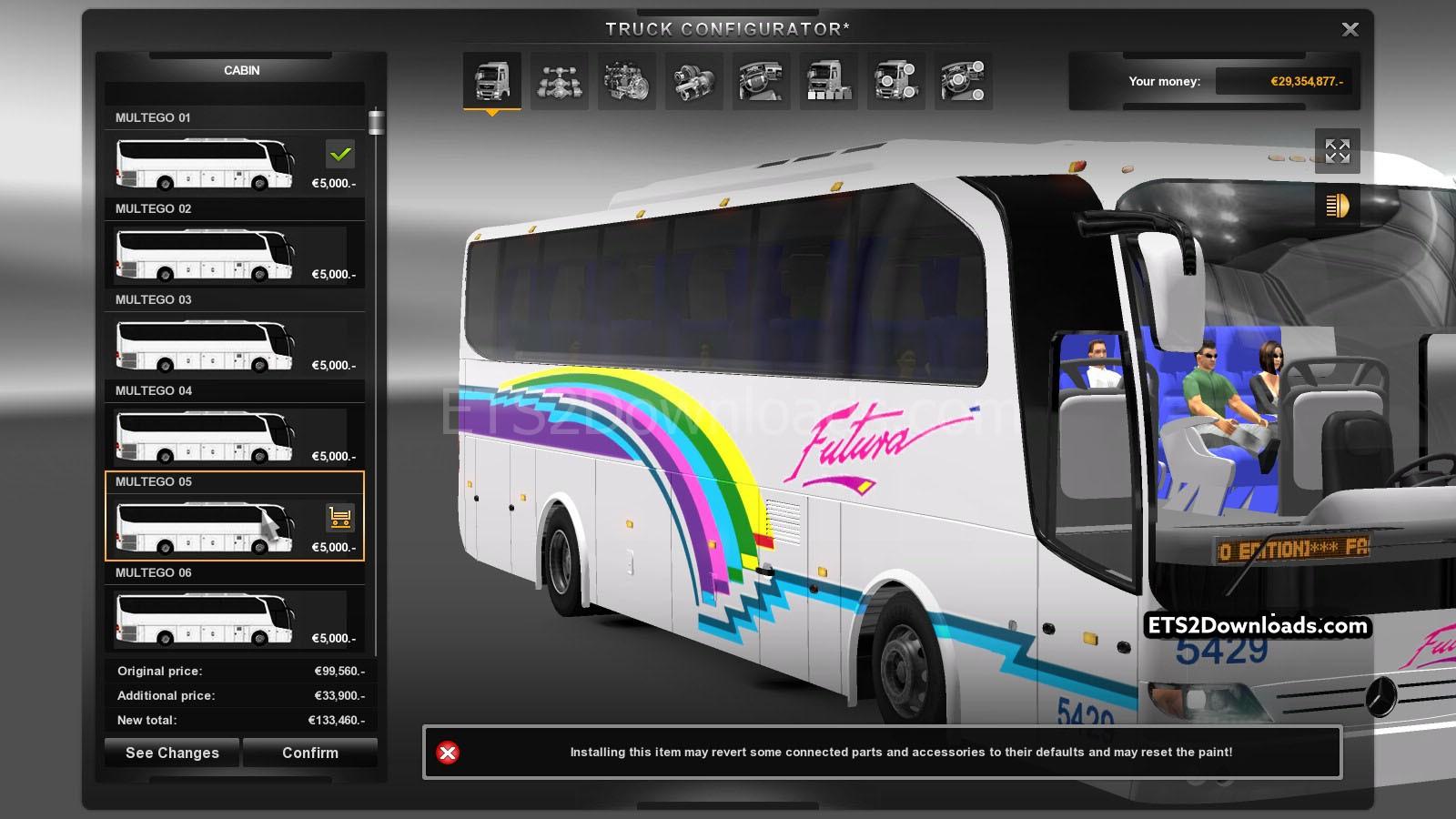 Majestic Honda Parts >> Marcopolo Multego Bus + Skins - Euro Truck Simulator 2 Mods