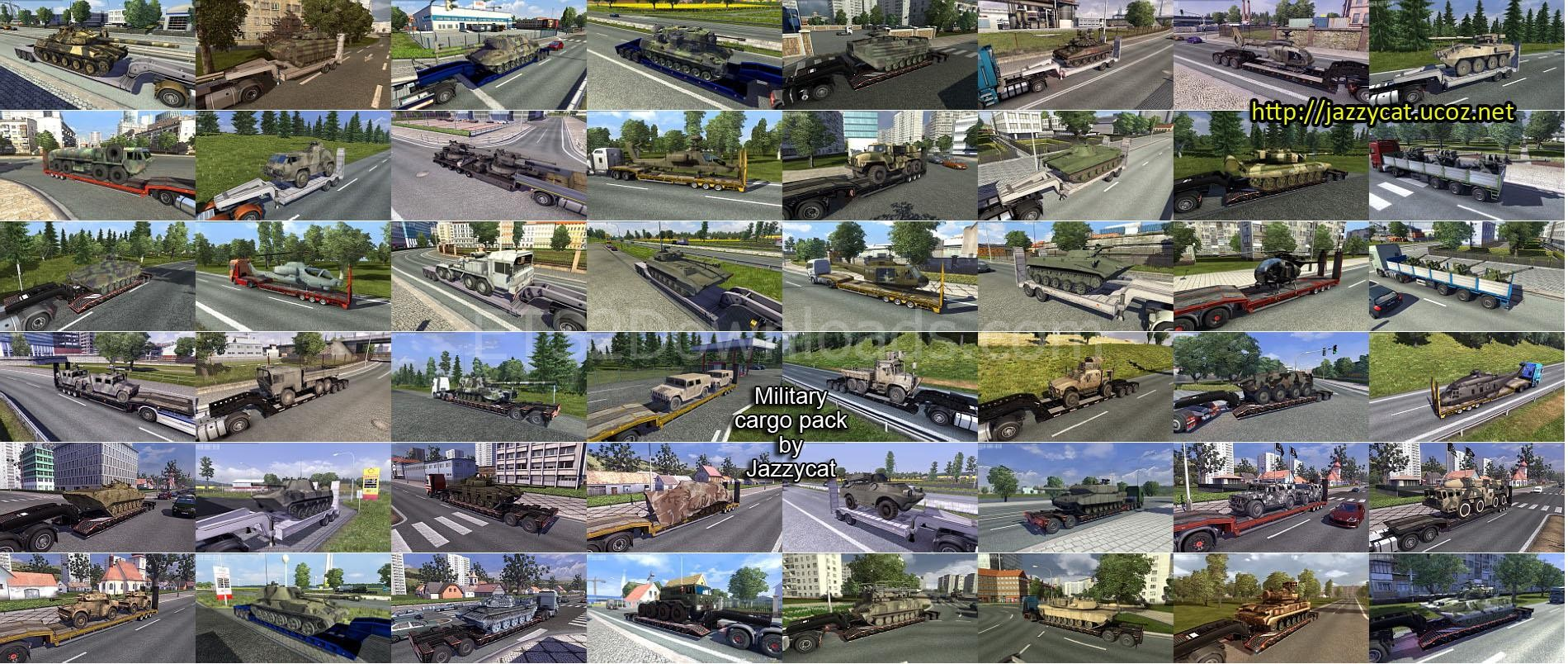 Military Cargo Pack by Jazzycat v1 5 1 - ETS 2 Mods