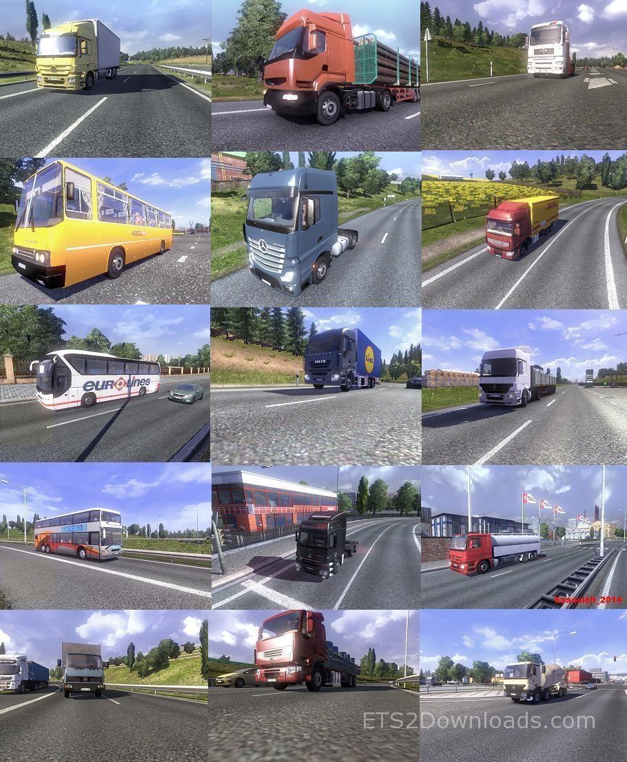 Mega Ai Traffic Mod v3 9 - Euro Truck Simulator 2 Mods