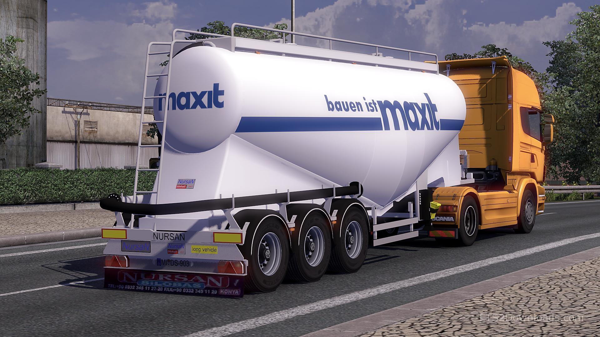 Nursan Silo Trailer Euro Truck Simulator 2 Mods
