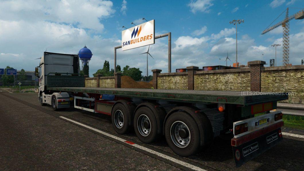 empty-flatbed-trailer-double-wheel