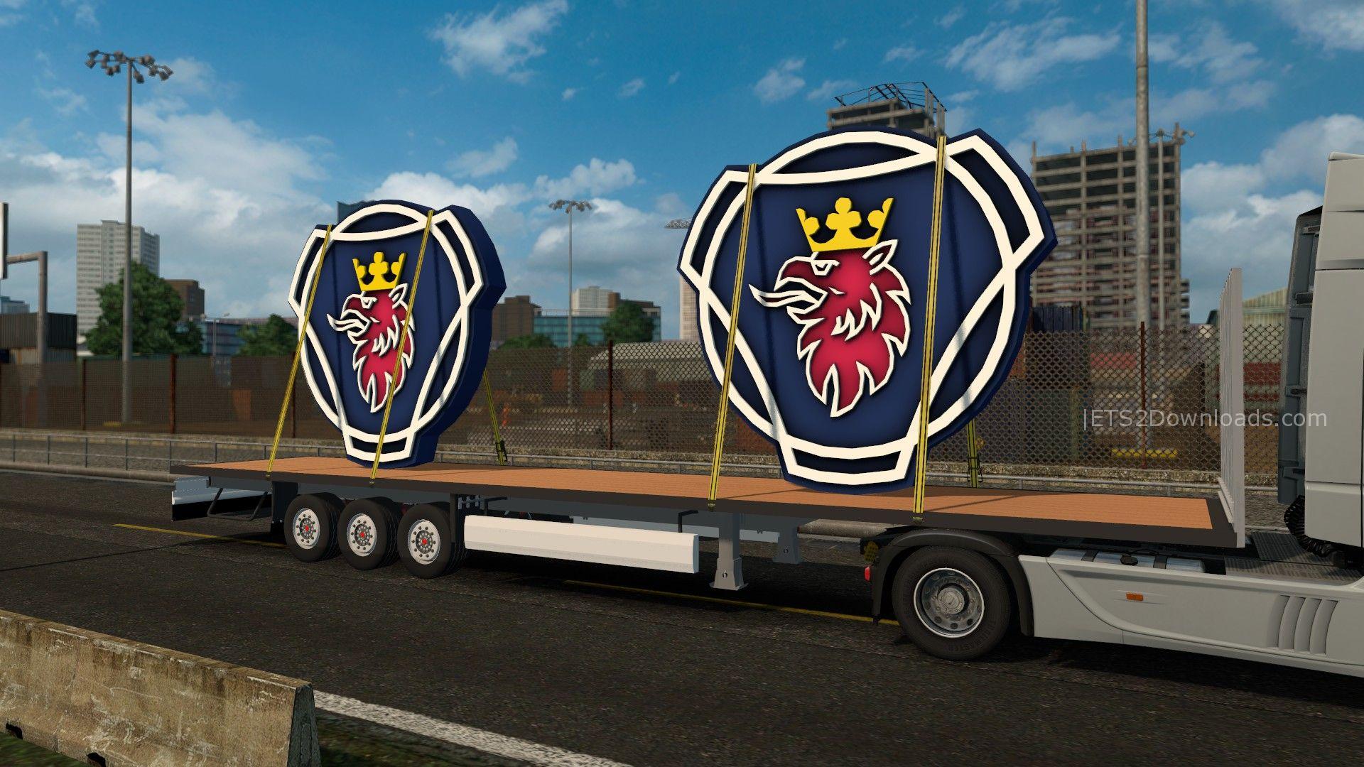 scania logo trailer ets2 mods
