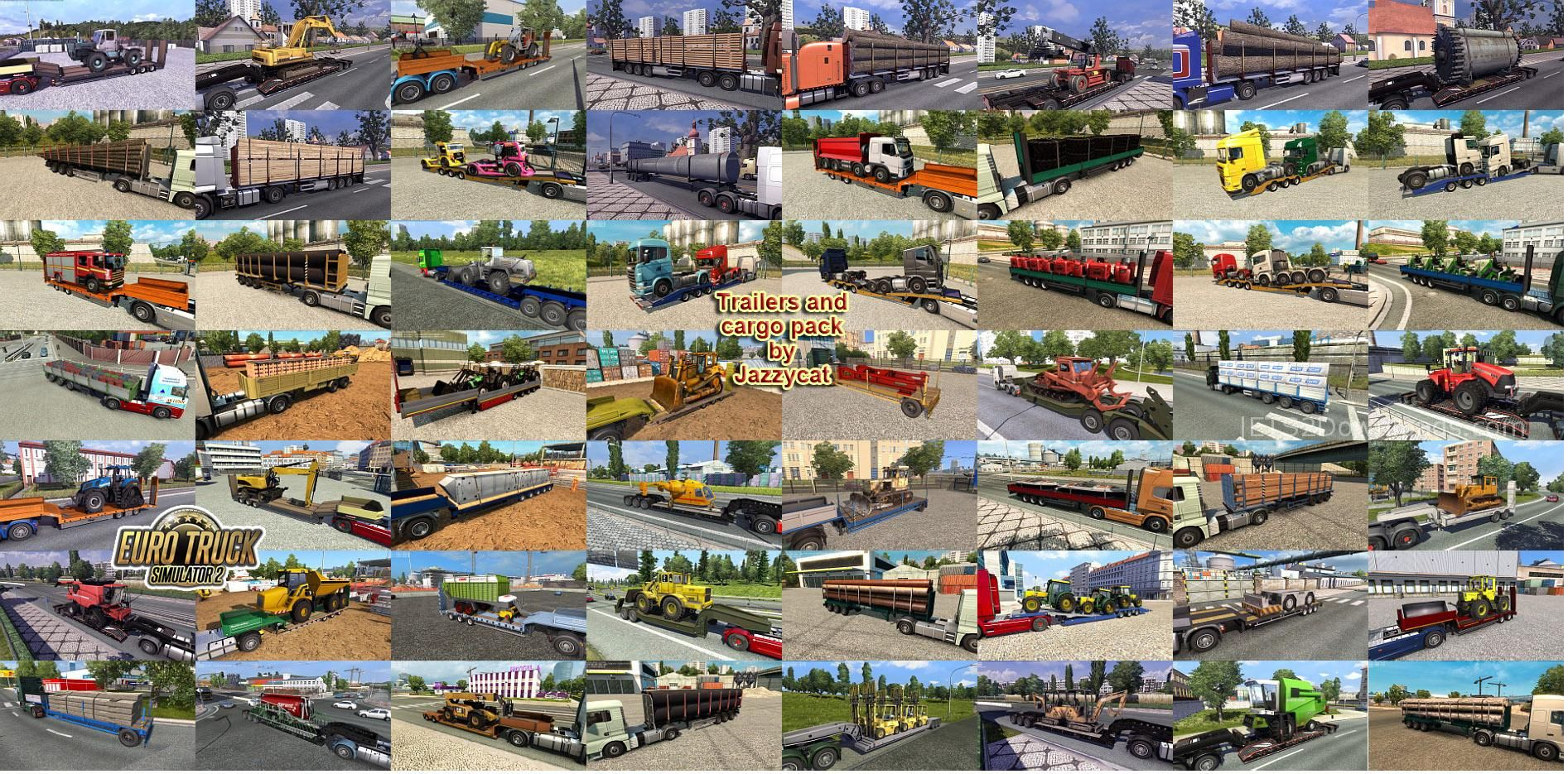 Trailers and Cargo Pack By Jazzycat v6 8 - ETS2 Mods