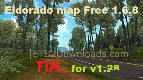 Fix Eldorado Map v1 6 8 For 1 28 - ETS2 Mods