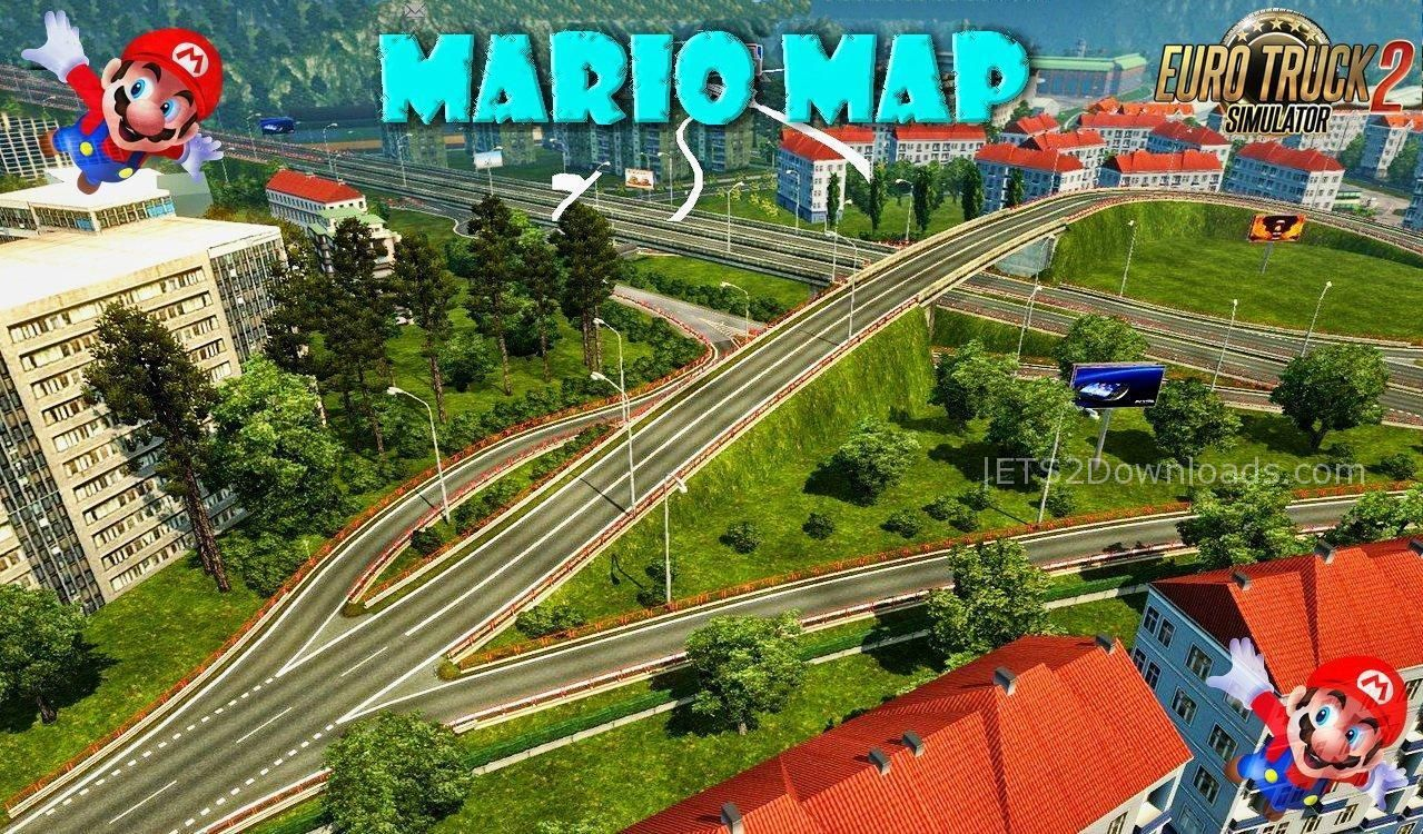 Ets2 mario map 1 31 download | Europe & Africa Mario Map v10 2  2019