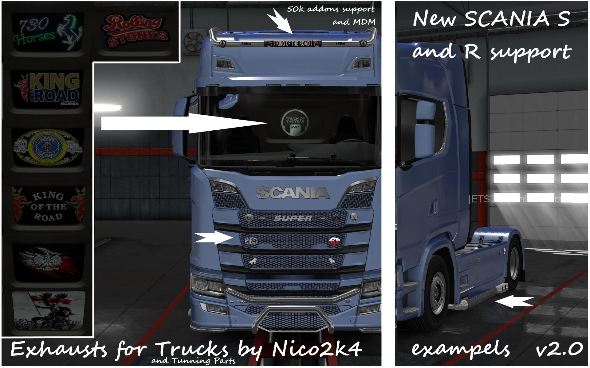 Exhausts Amp Tuning Parts For Trucks V2 0 1 30 Ets2 Mods