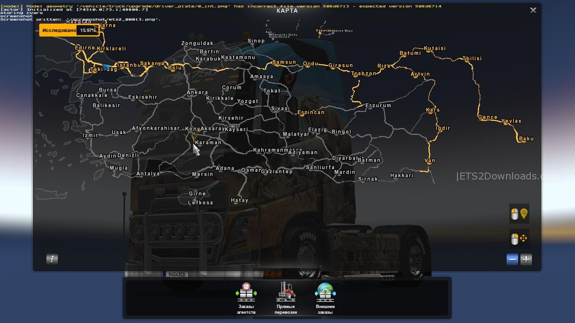 Fix for Turkey Map for Promods v2 26 1 30 - ETS2 Mods