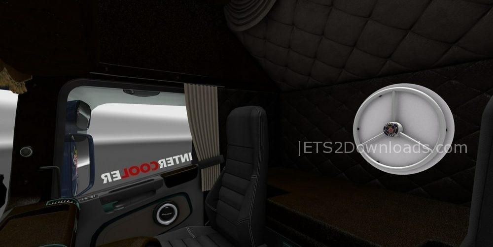 Scania Rjl Special Interior Dark Brown 1 30 X Ets2 Mods