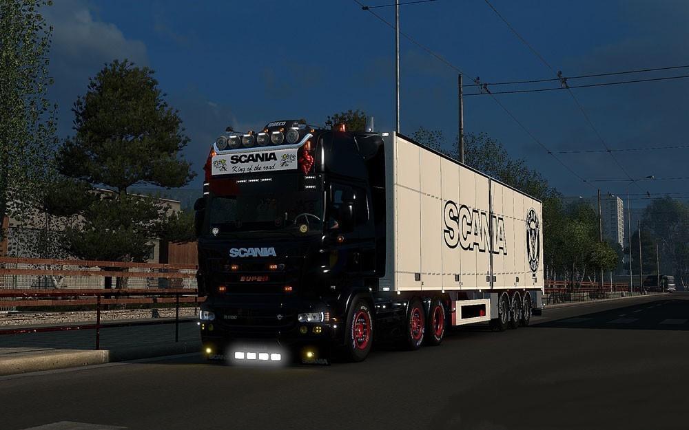 Cozy Scania Rjl Lightbox 124 Ets2 Mods Euro Truck Simulator 2 Mods