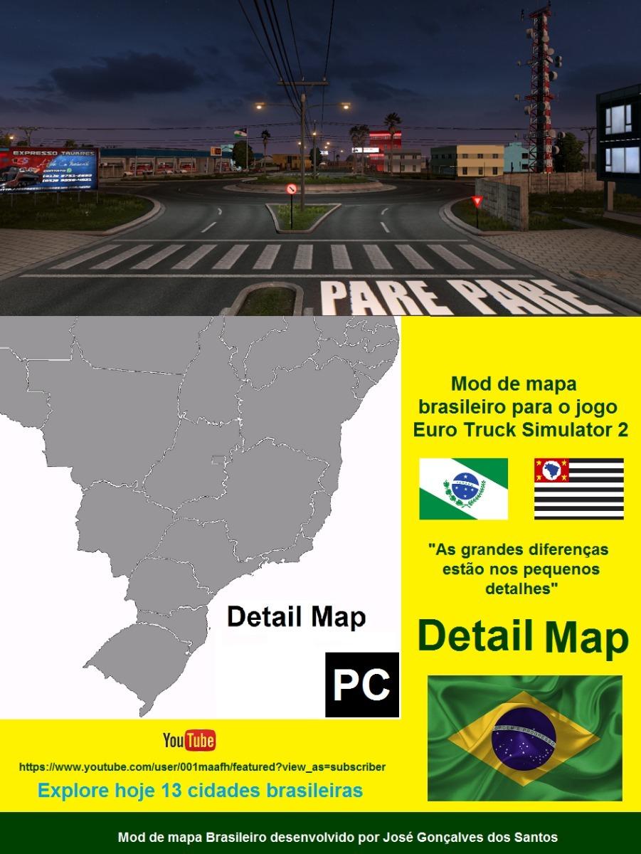 Mod Map Ets2 : Detail_Map_Versao_8.28, Truck, Simulator, ETS2MODS.LT