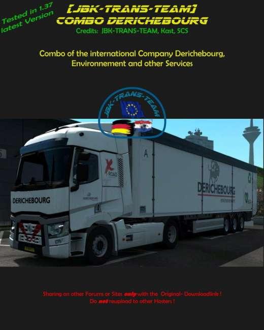 Mod Ets2 Map Jowo V7 : COMBO, DERICHEBOURG, Truck, Simulator, ETS2MODS.LT
