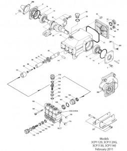 CAT Pump 3CP1130 Ceramic Plunger Pressure Washer Pump