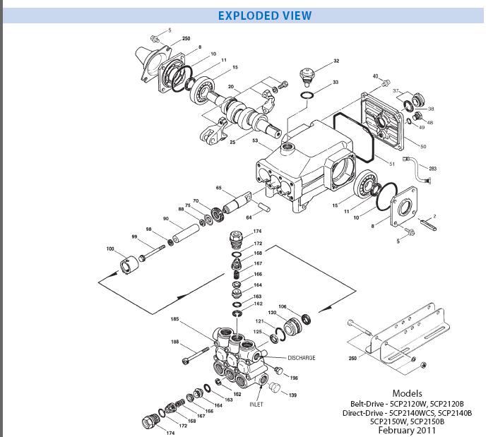 CAT Pump 5CP2150W Ceramic Pressure Washer Plunger Pump