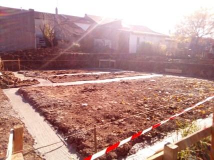 Etape 1 Les fondations sont coulées...