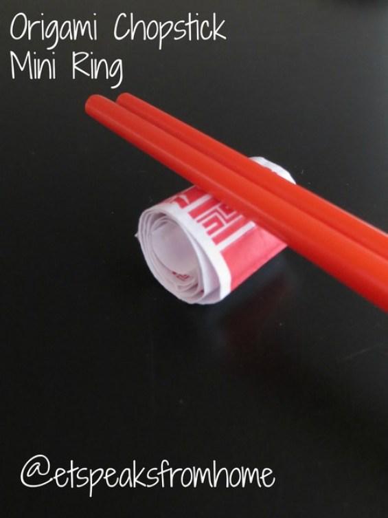 Origami Chopstick mini ring
