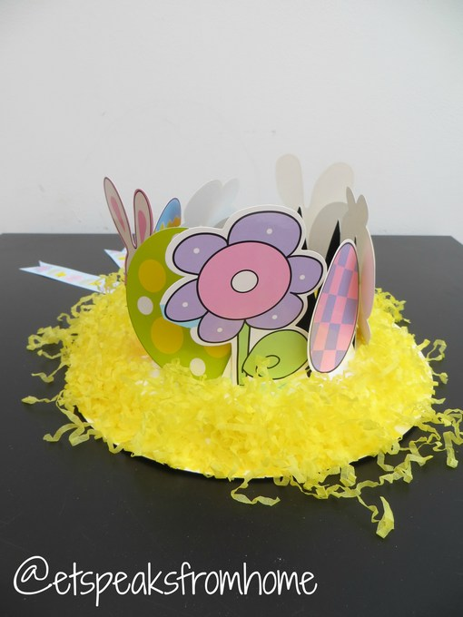 How To Make An Easter Bonnet Hat Using Paper Plate Et Speaks From Home