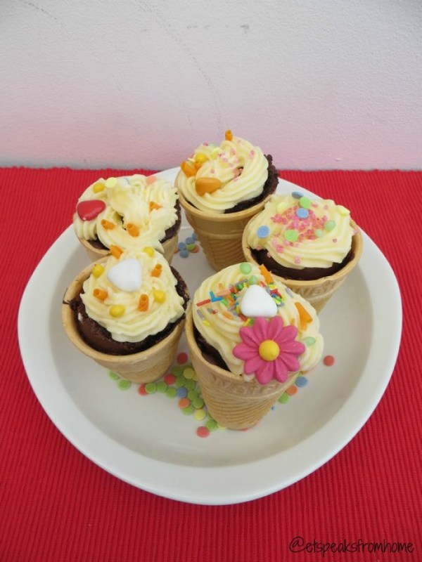 Cake Angels Ice Cream Cone Cupcake Kit