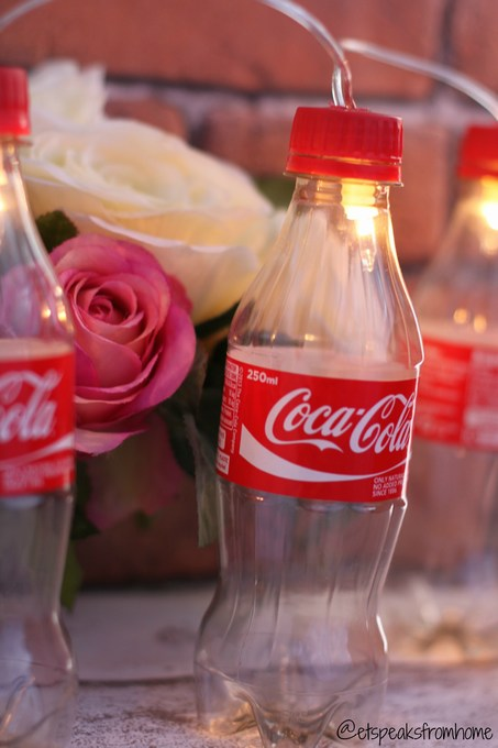 Diy Coca Cola Fairy Light Bottles Et Speaks From Home