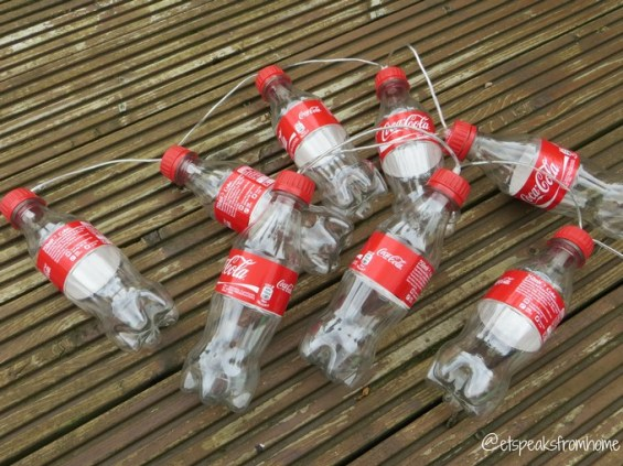 DIY coca-cola fairy light bottle