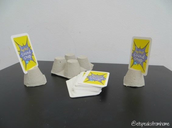 egg box for kid's card games