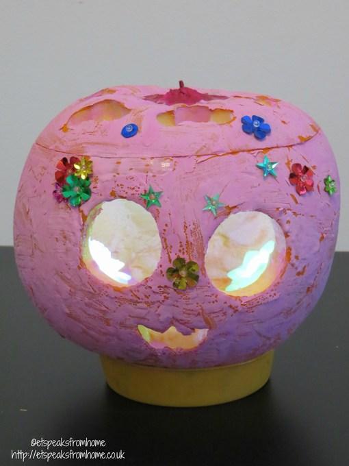 Pretty Pink Halloween Pumpkin Et Speaks From Home
