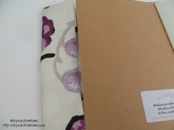 DIY Fabric book cover fold side