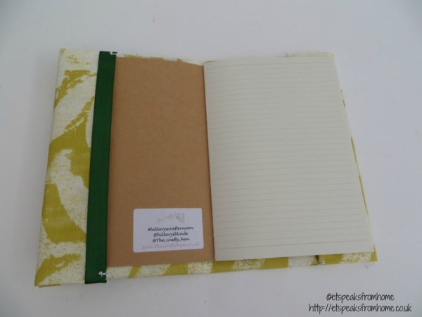 DIY Fabric book cover inside