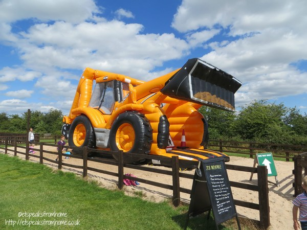 JCB bouncing castle at national forest adventure farm