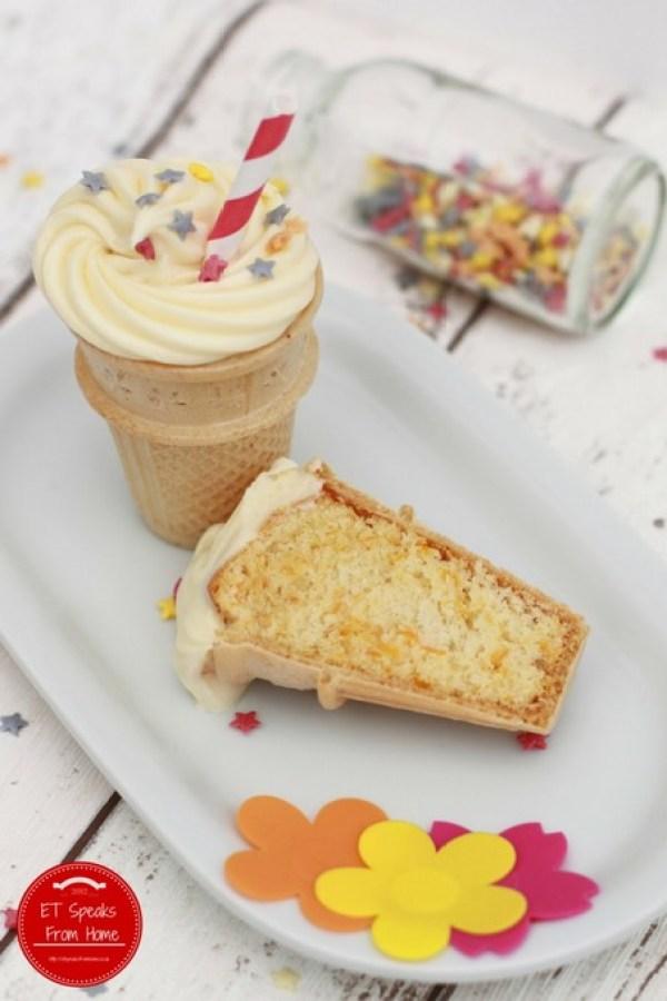 carrot cupcake ice cream cone recipe