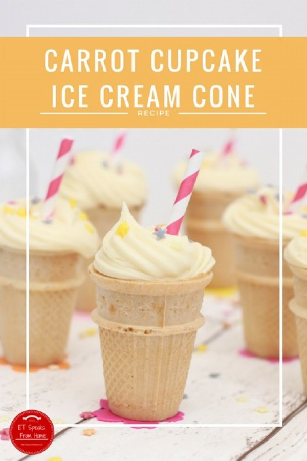 carrot cupcake ice cream cone