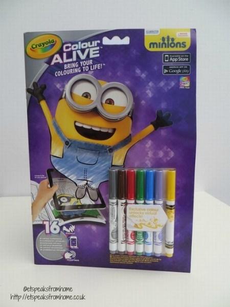 crayola colour alive minions