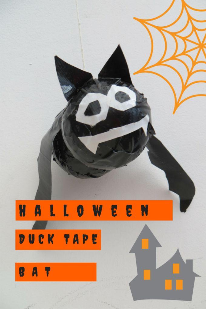 halloween duck tape bat