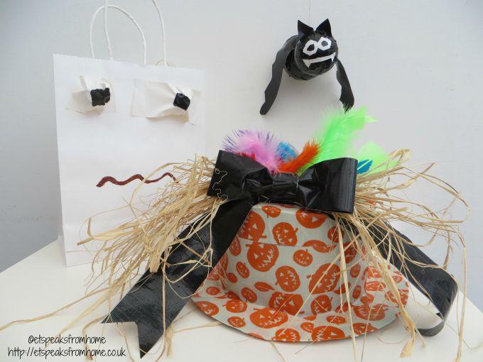 halloween duck tape craft