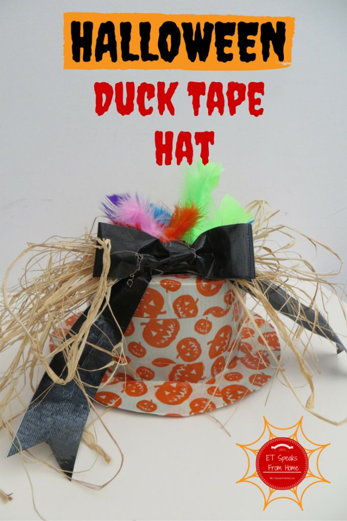 halloween duck tape hat