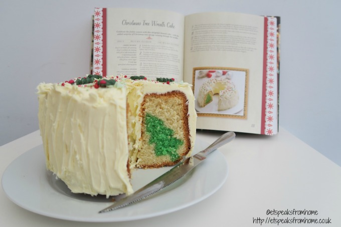 christmas tree wreath cake with sophie conran cake knife
