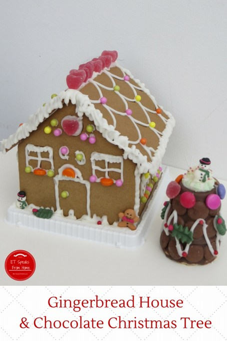 gingerbread house & chocolate christmas tree