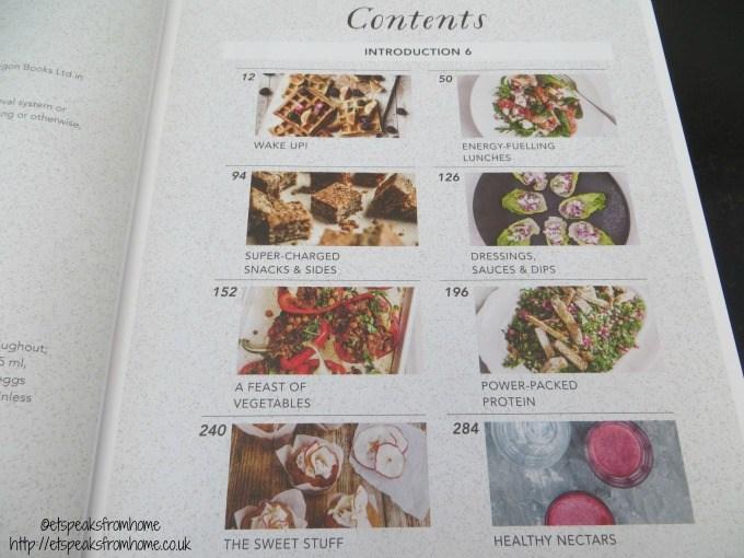 natural cookbook contents