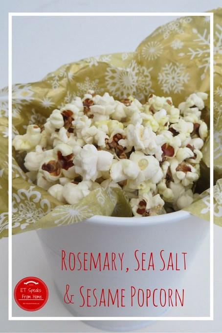 rosemary, sea salt & sesame popcorn