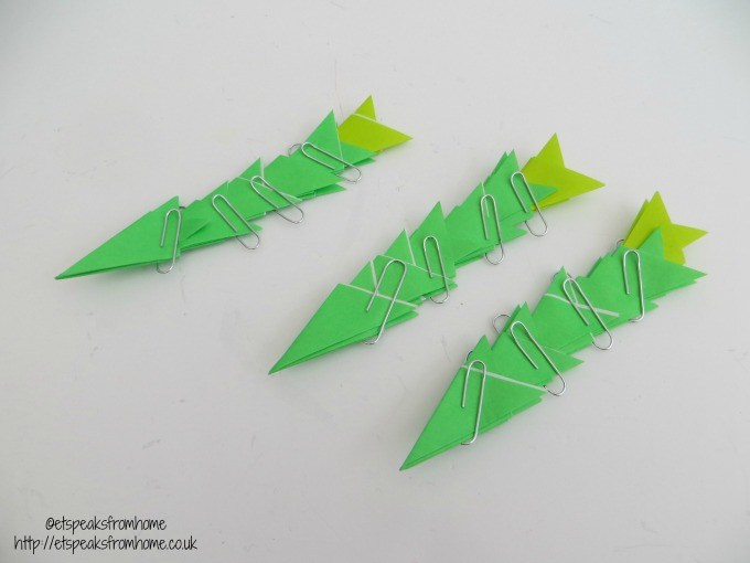 chinese new year pineapple origami leaves craft