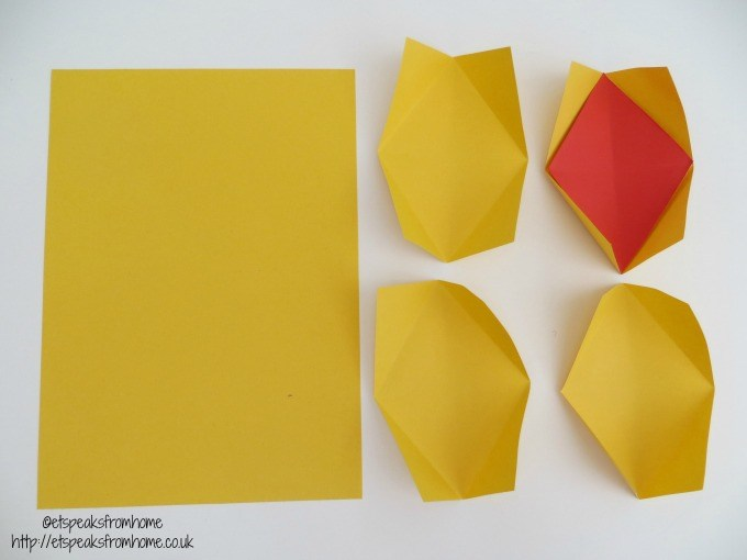 chinese new year pineapple yellow paper