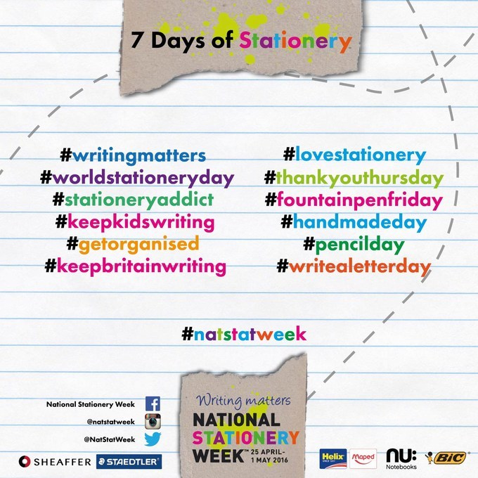 NSW 7 Days of Stationery hashtags