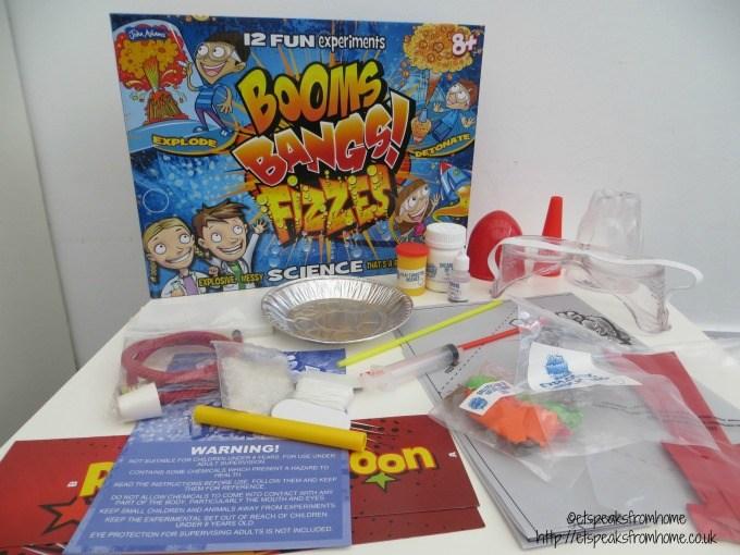 booms bangs fizzes