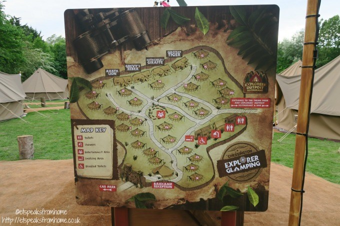 explorer glamping cwoa map