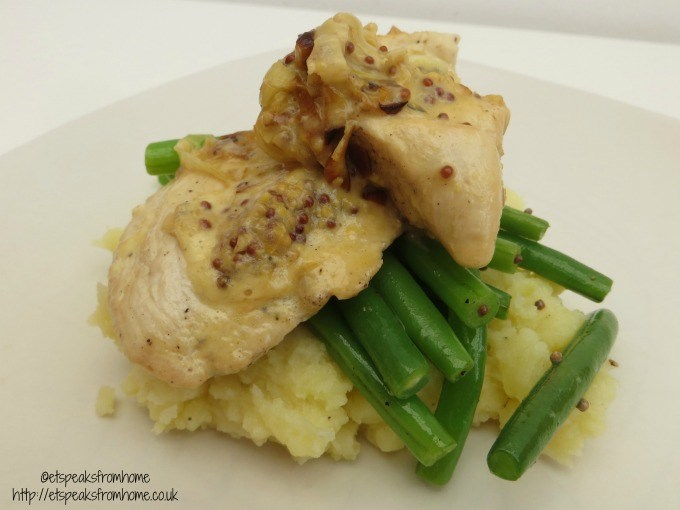 hello fresh creamy leek and mustard chicken with stir fried green beans