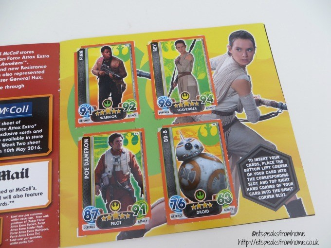 star wars topps collection cards