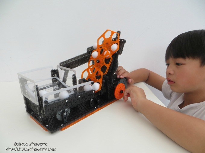Hexbug VEX Robotics Hexcalator Ball Machine playing