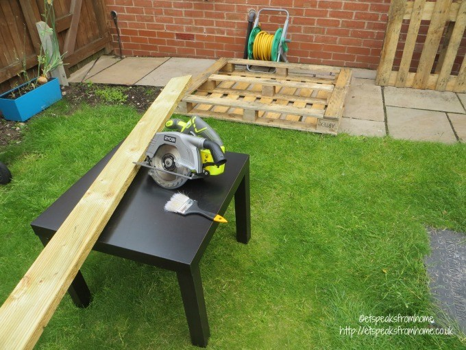 cutting decking using ryobi saw
