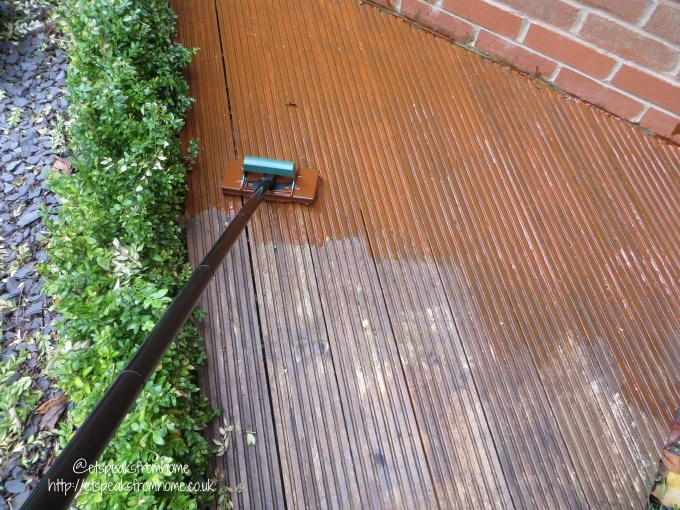 painting the decking