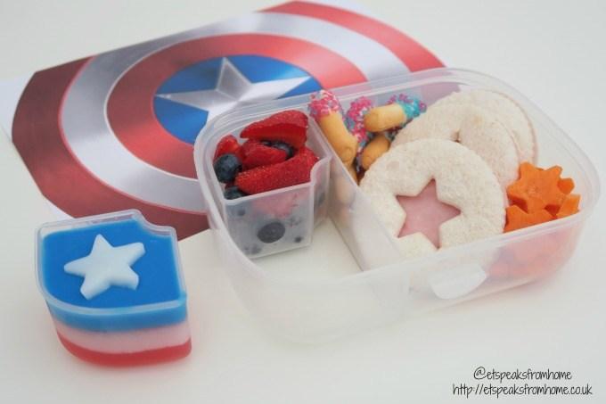 captain america lunch box idea