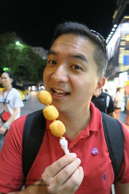 deep fried milk in shilin night market